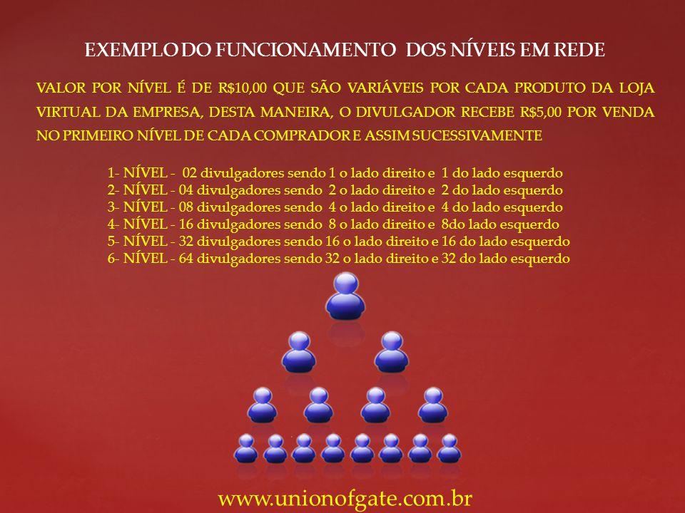 EXEMPLO DO FUNCIONAMENTO DOS NÍVEIS EM REDE