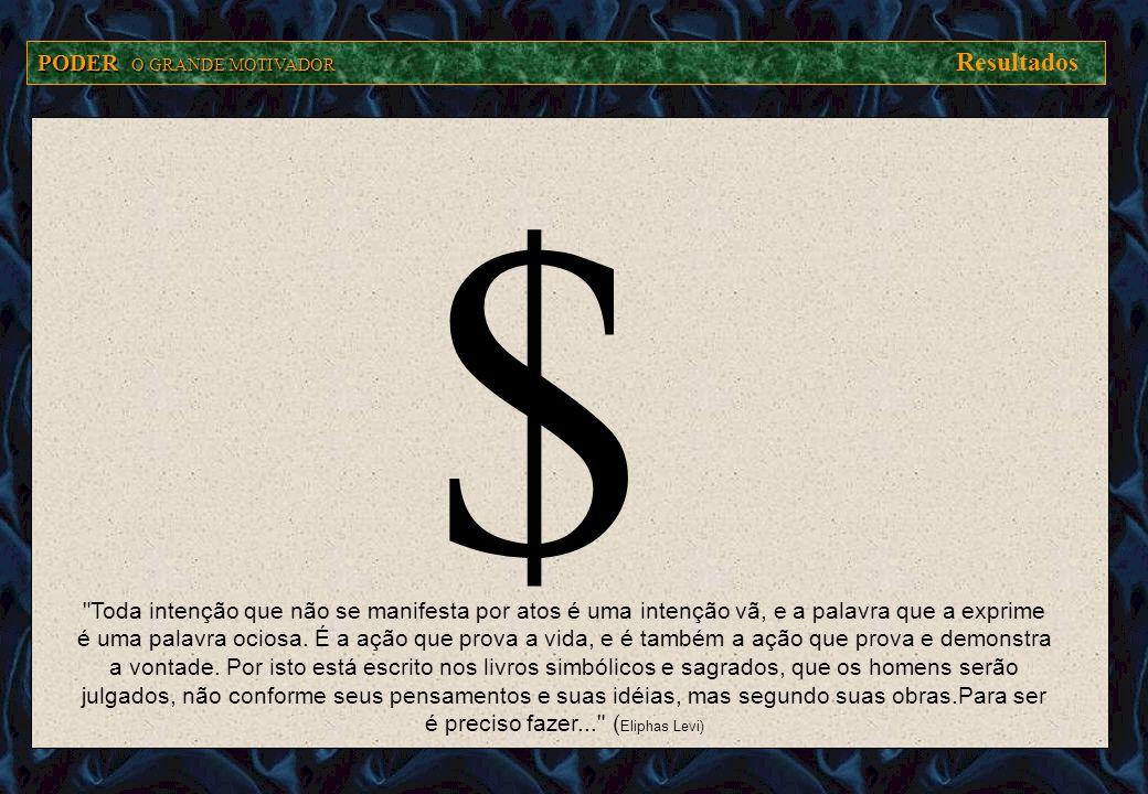 $ PODER O GRANDE MOTIVADOR Resultados