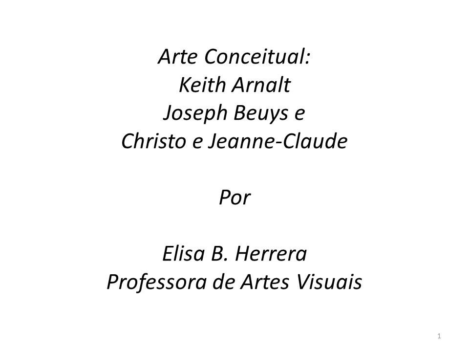 Christo e Jeanne-Claude Por Elisa B. Herrera