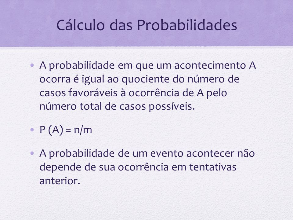 Cálculo das Probabilidades