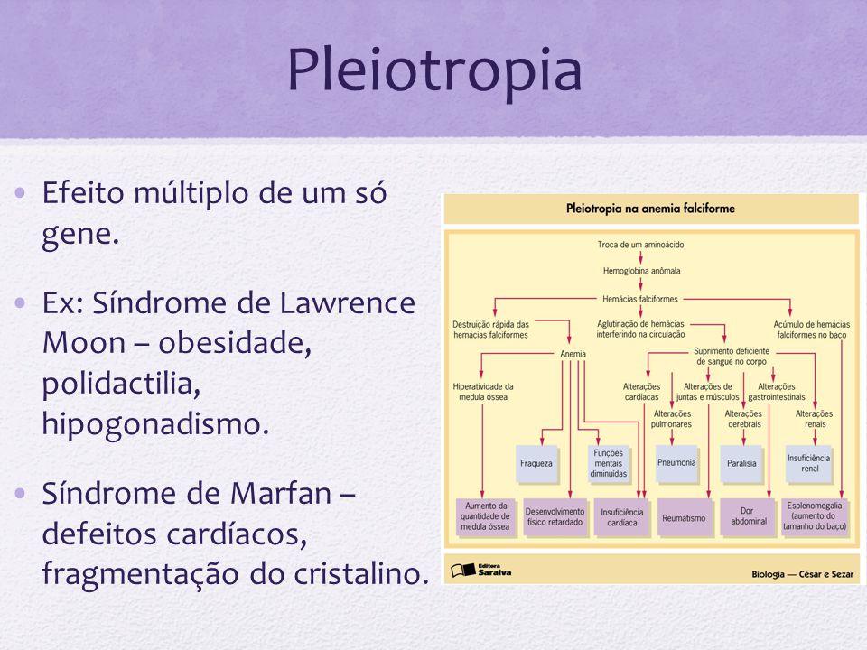 Pleiotropia Efeito múltiplo de um só gene.