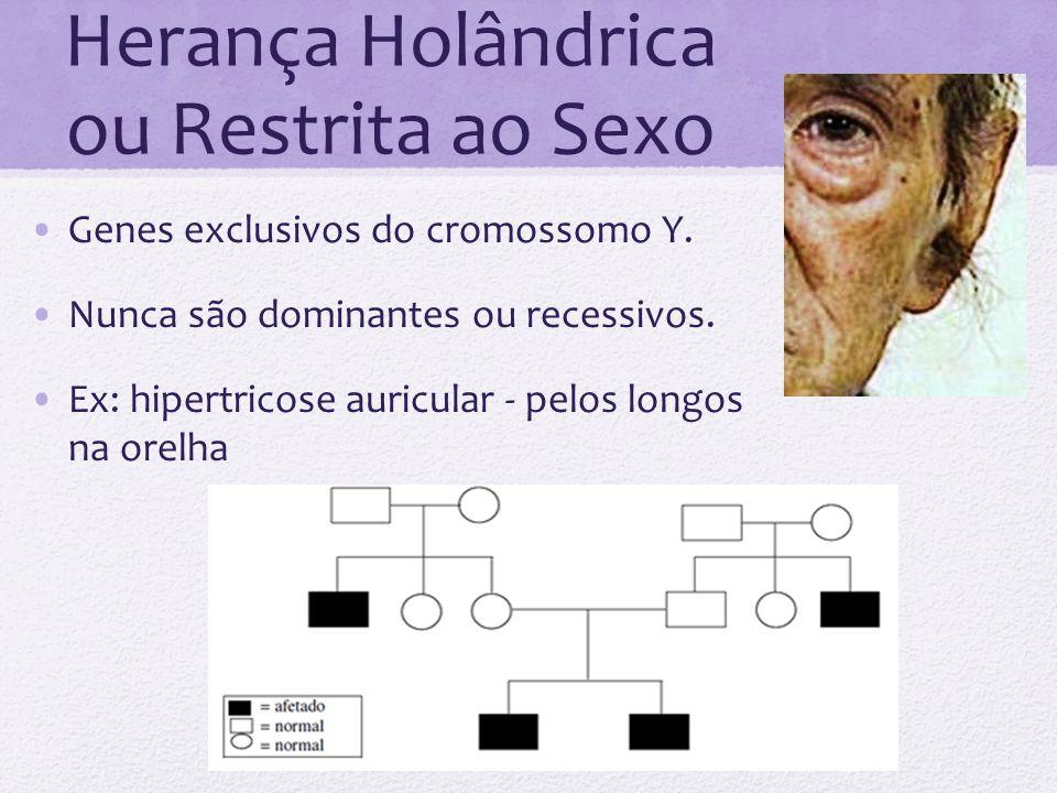 Herança Holândrica ou Restrita ao Sexo