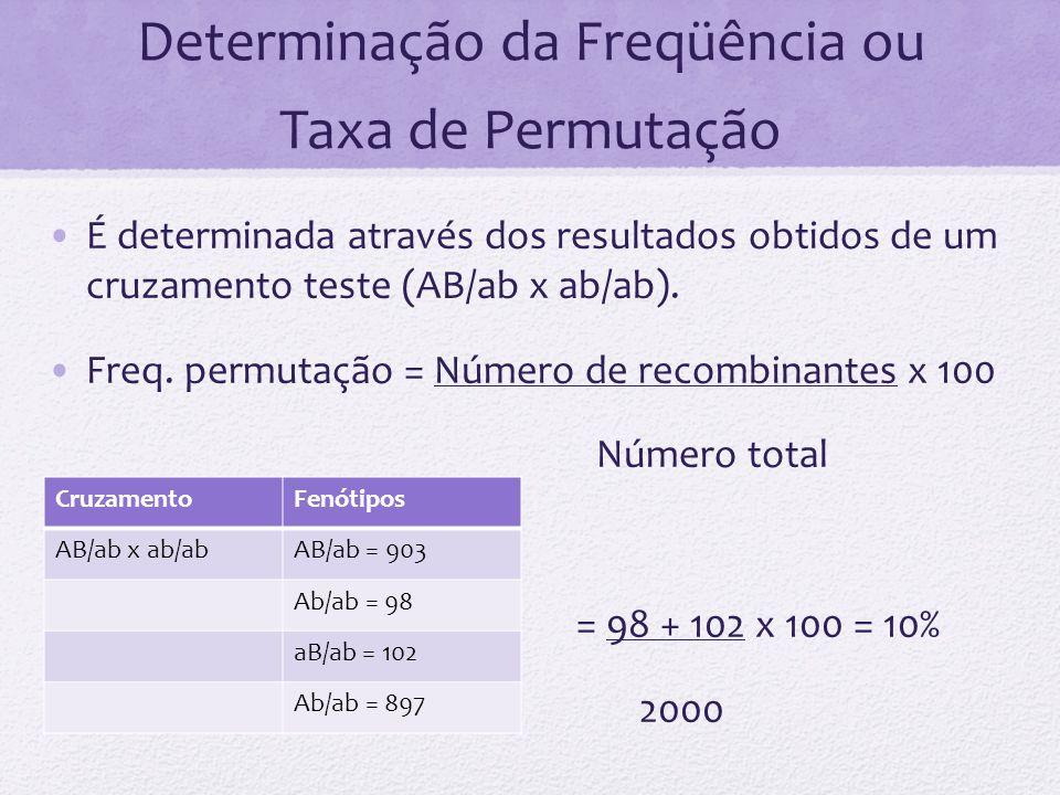 Determinação da Freqüência ou Taxa de Permutação