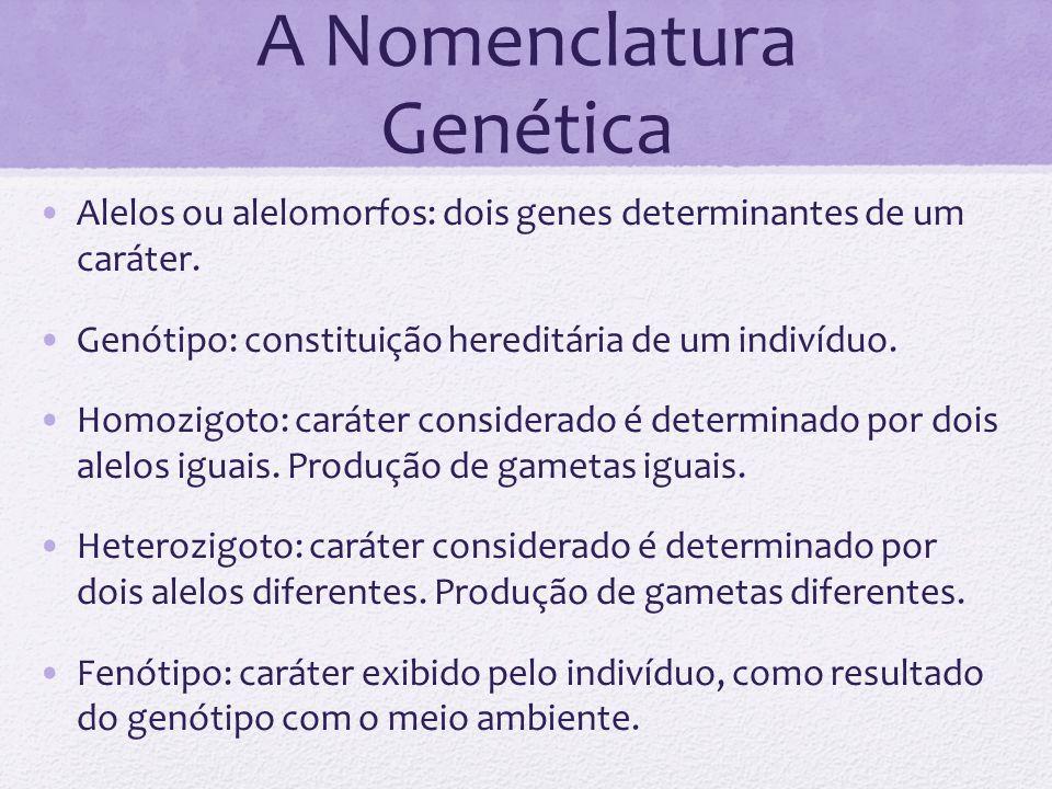 A Nomenclatura Genética