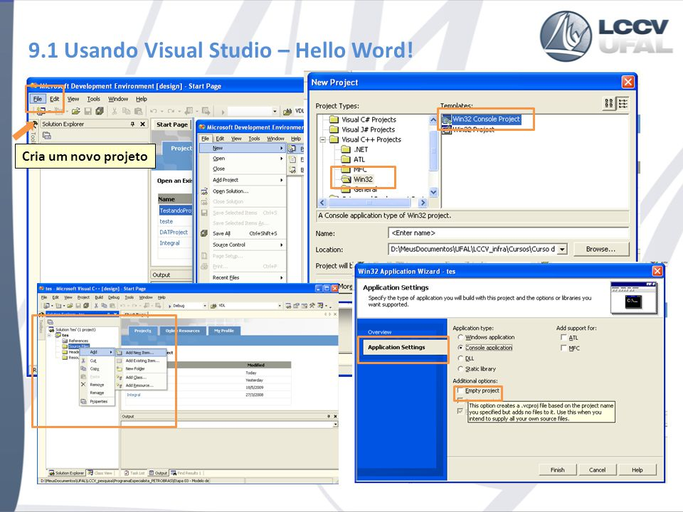 9.1 Usando Visual Studio – Hello Word!