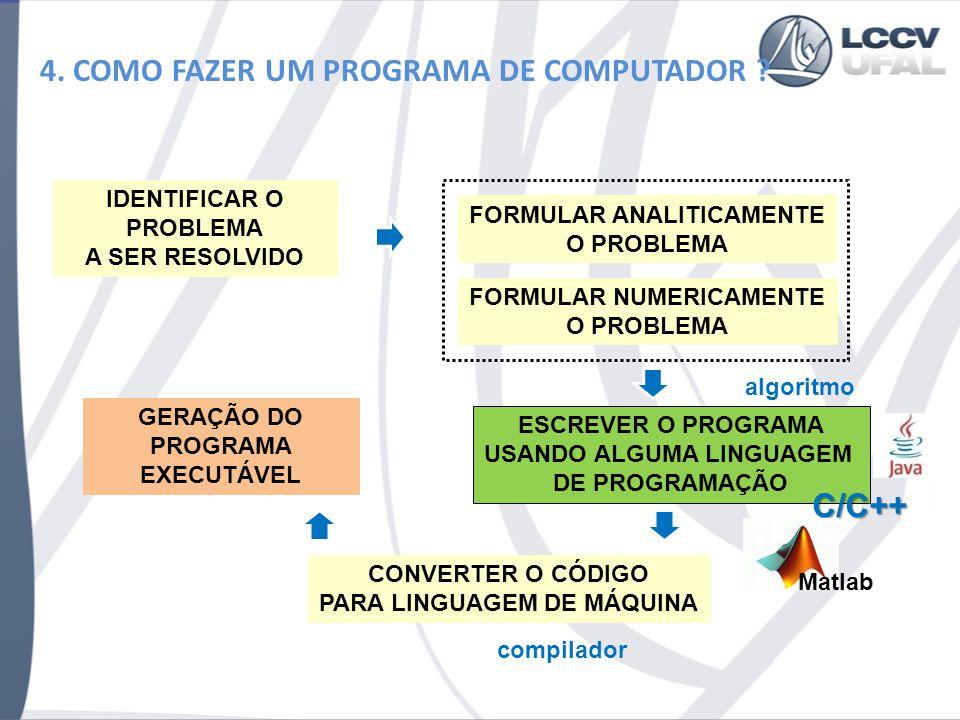 4. COMO FAZER UM PROGRAMA DE COMPUTADOR
