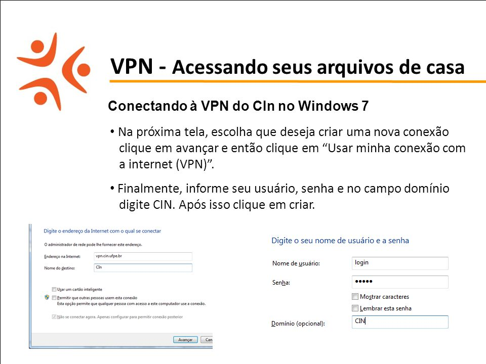 LEMBRETE: Configuração de VPN no Linux e MAC está descrito no Manual.