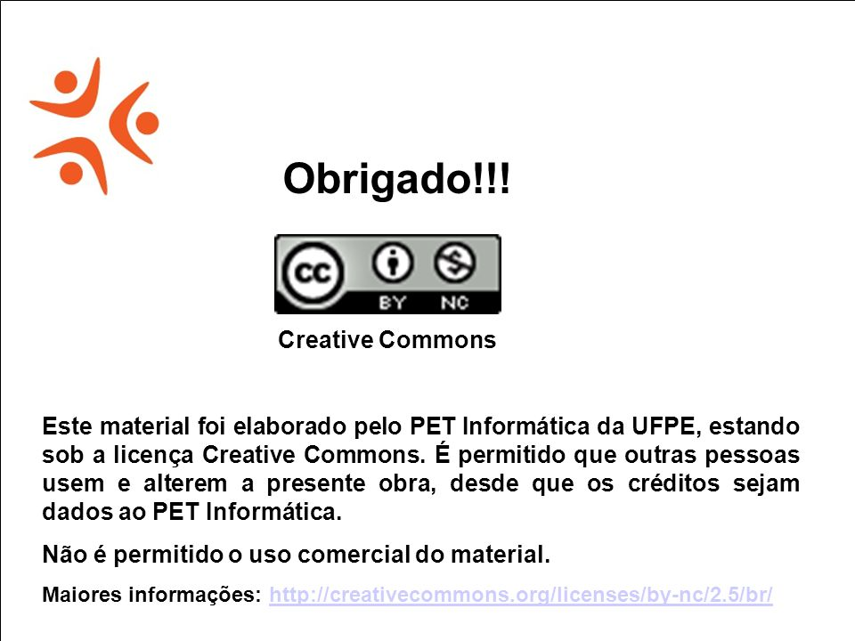 Obrigado!!! Creative Commons