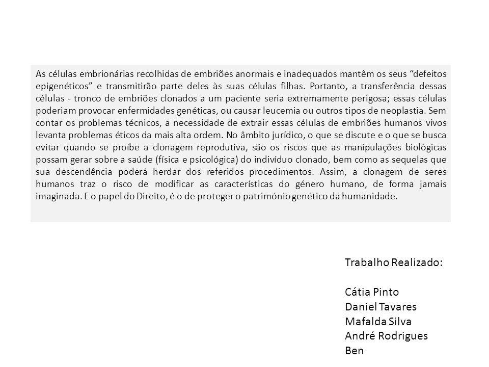Trabalho Realizado: Cátia Pinto Daniel Tavares Mafalda Silva