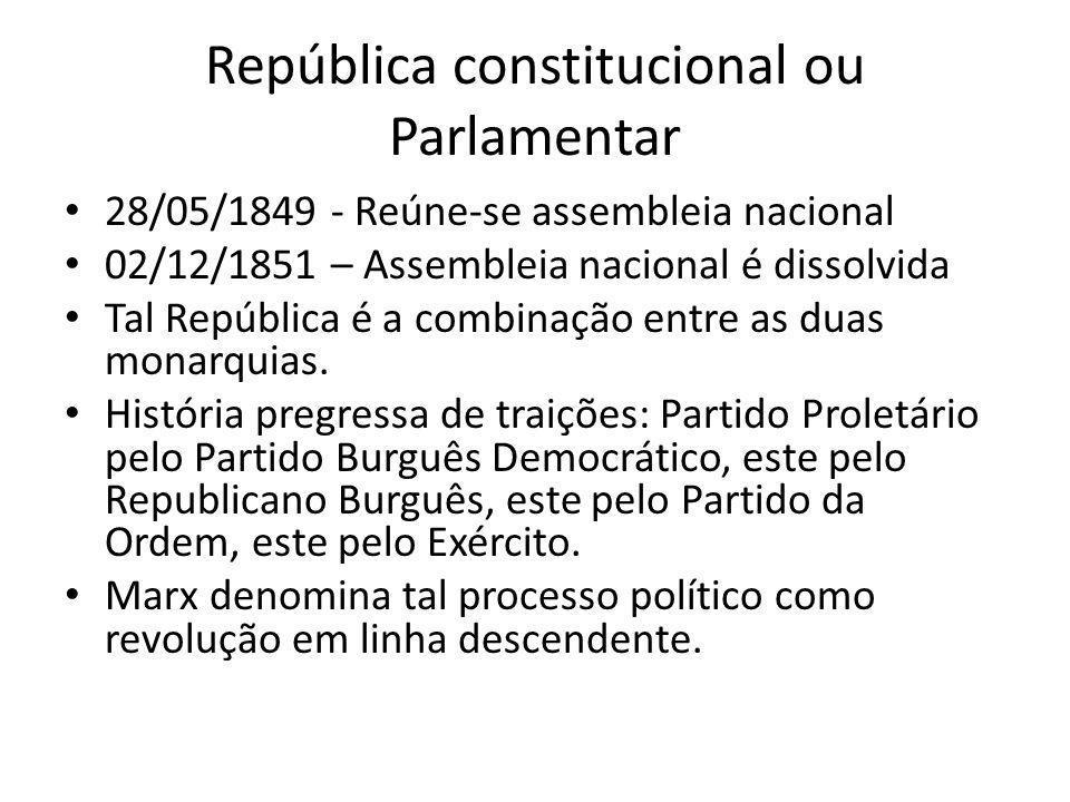 República constitucional ou Parlamentar
