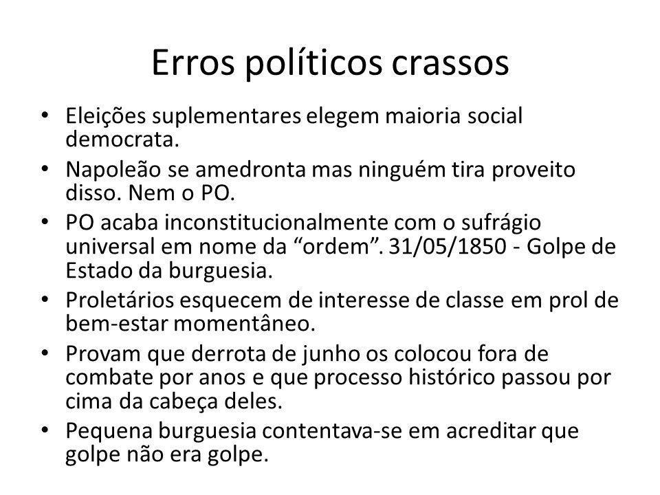 Erros políticos crassos