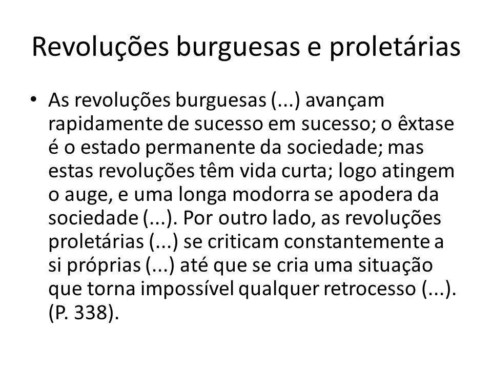 Revoluções burguesas e proletárias