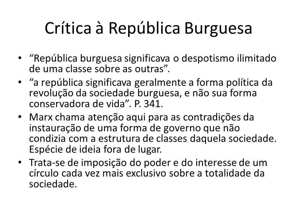 Crítica à República Burguesa