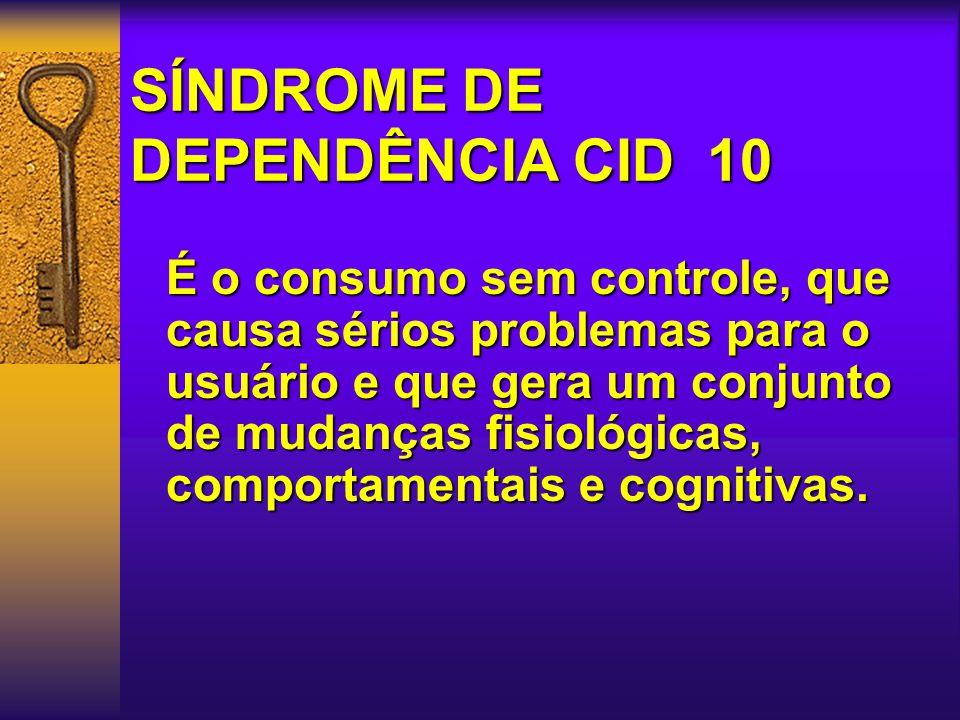 SÍNDROME DE DEPENDÊNCIA CID 10