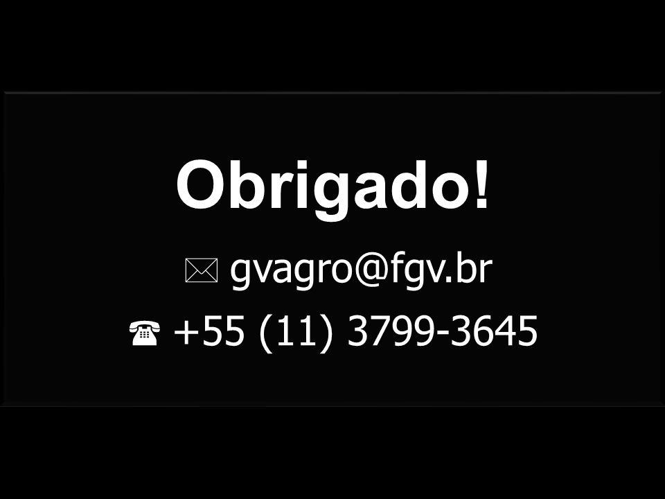  gvagro@fgv.br  +55 (11) 3799-3645 Obrigado!