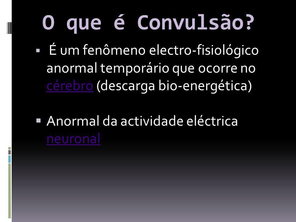 O que é Convulsão Anormal da actividade eléctrica neuronal