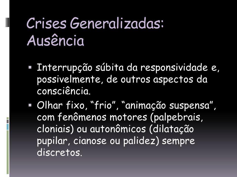 Crises Generalizadas: Ausência