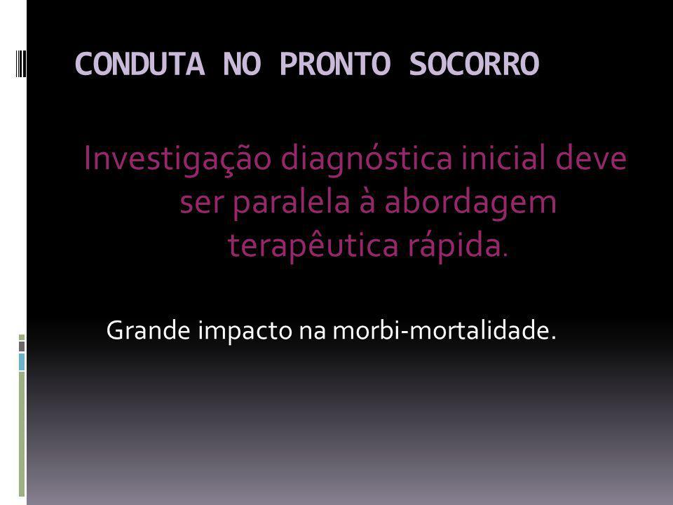 CONDUTA NO PRONTO SOCORRO