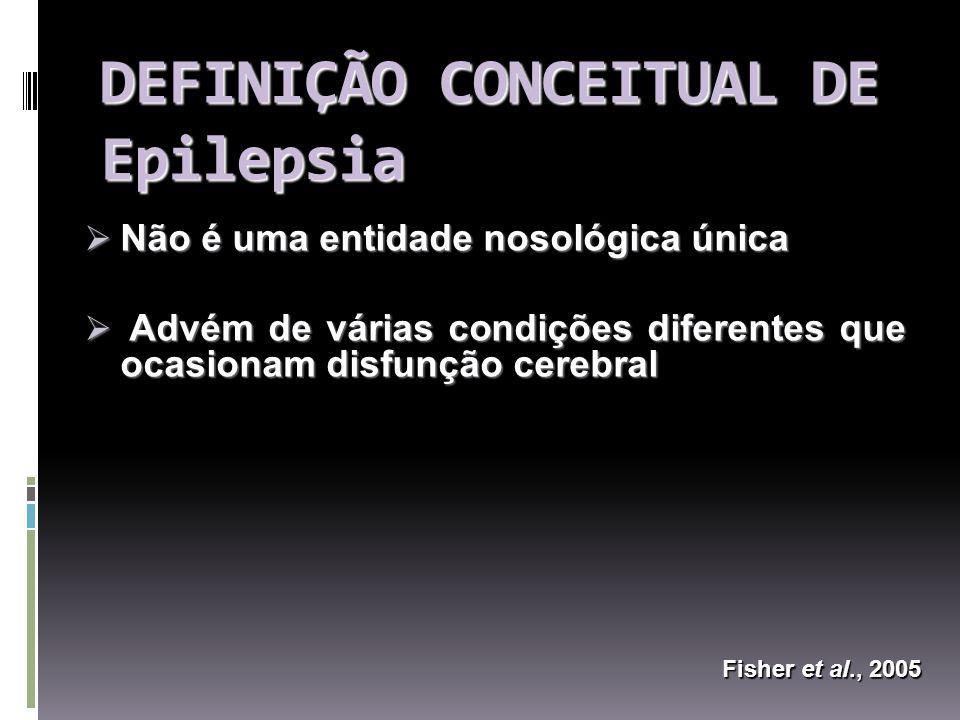 DEFINIÇÃO CONCEITUAL DE Epilepsia