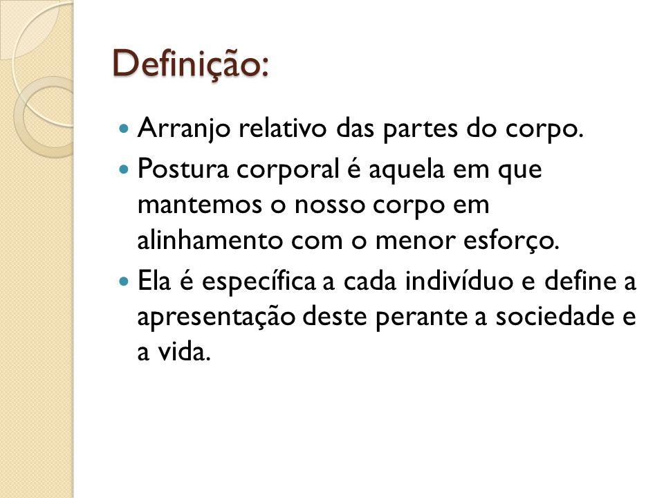 Definição: Arranjo relativo das partes do corpo.