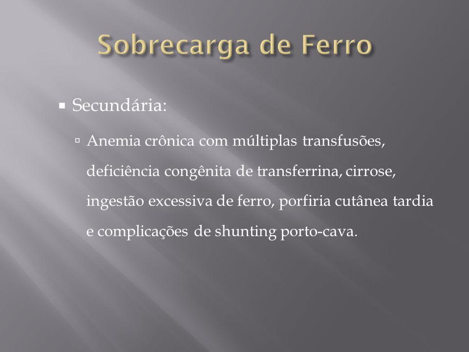 Sobrecarga de Ferro Secundária: