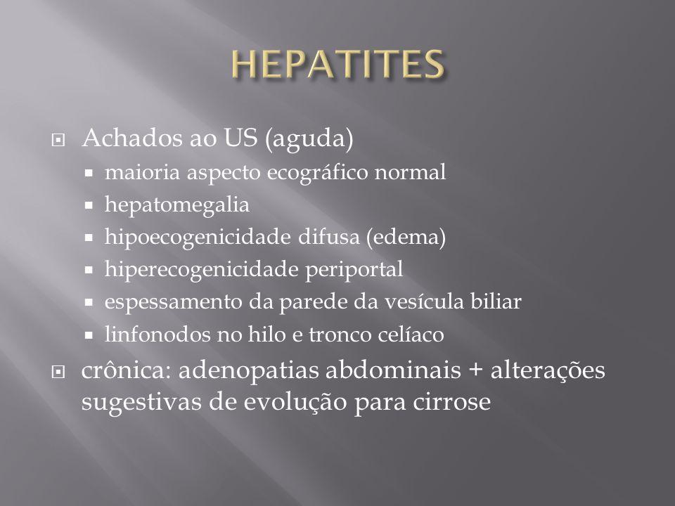 HEPATITES Achados ao US (aguda)