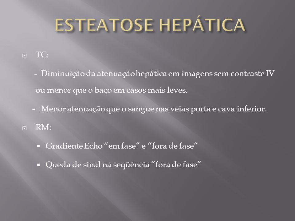 ESTEATOSE HEPÁTICA TC:
