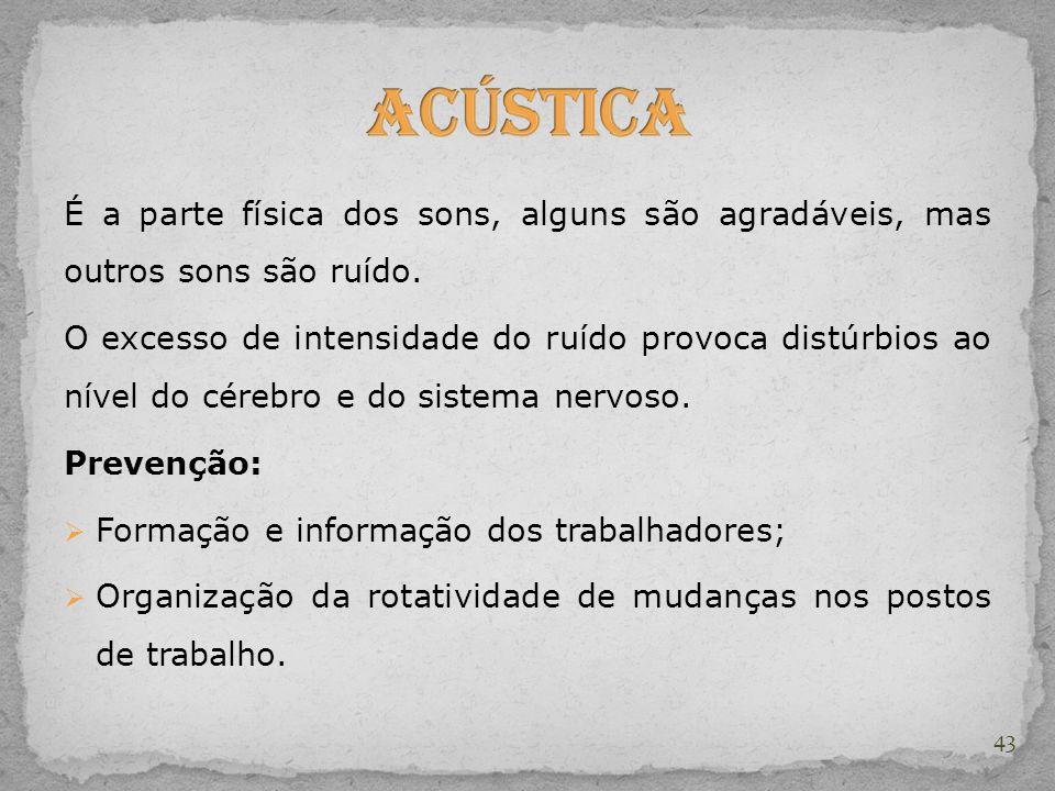 Acústica É a parte física dos sons, alguns são agradáveis, mas outros sons são ruído.