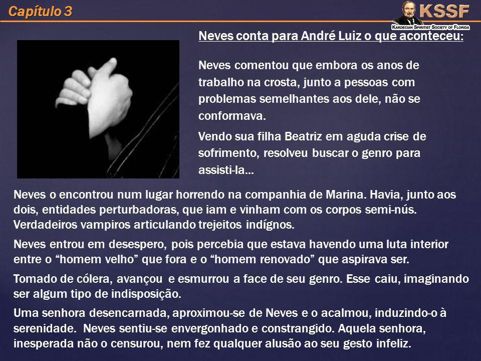 Capítulo 3 Neves conta para André Luiz o que aconteceu: