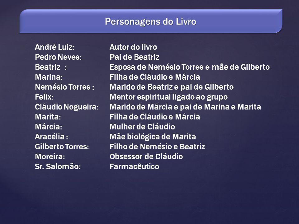 Personagens do Livro André Luiz: Autor do livro