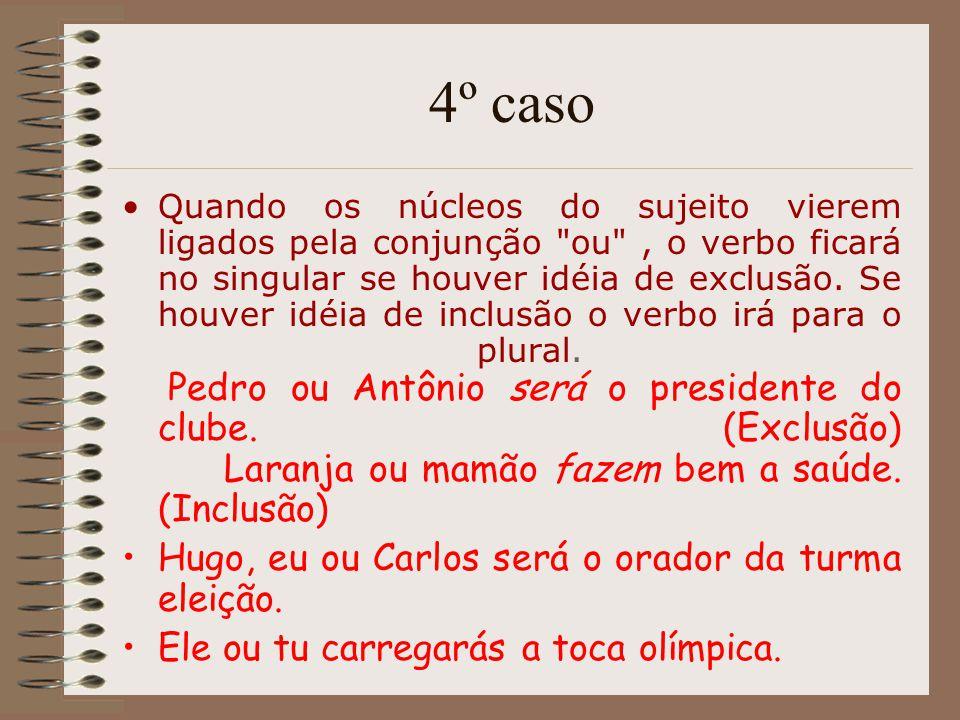 4º caso Hugo, eu ou Carlos será o orador da turma eleição.