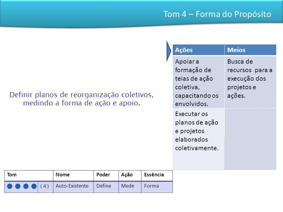 Tom 4 – Forma do Propósito