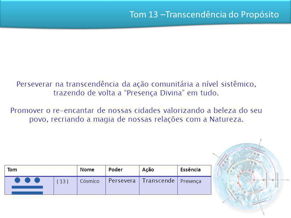 Tom 13 –Transcendência do Propósito