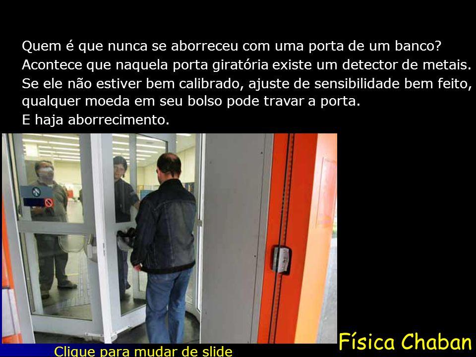 Física Chaban Quem é que nunca se aborreceu com uma porta de um banco