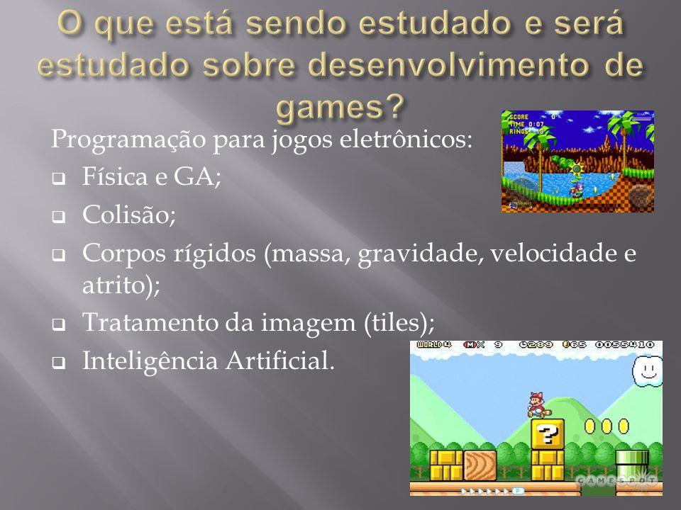 O que está sendo estudado e será estudado sobre desenvolvimento de games