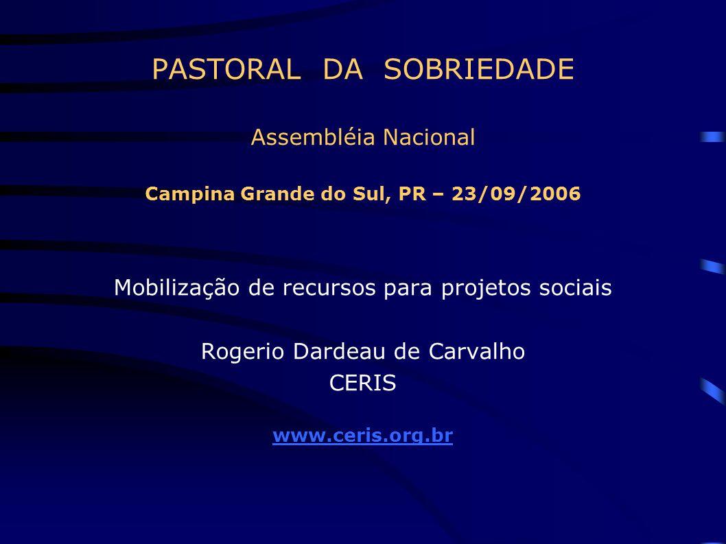 PASTORAL DA SOBRIEDADE Assembléia Nacional