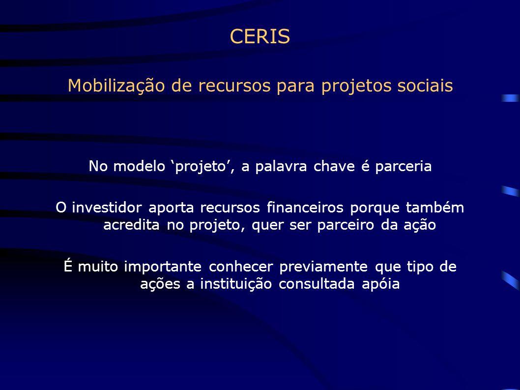 CERIS Mobilização de recursos para projetos sociais