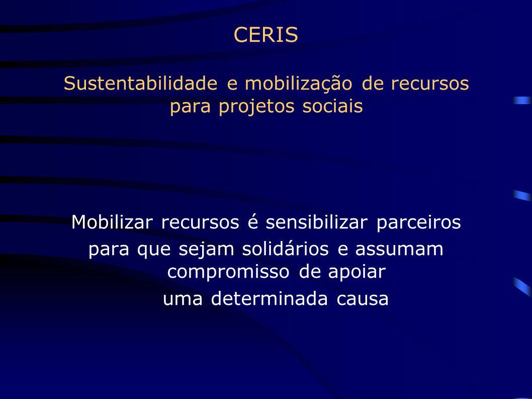 CERIS Sustentabilidade e mobilização de recursos para projetos sociais