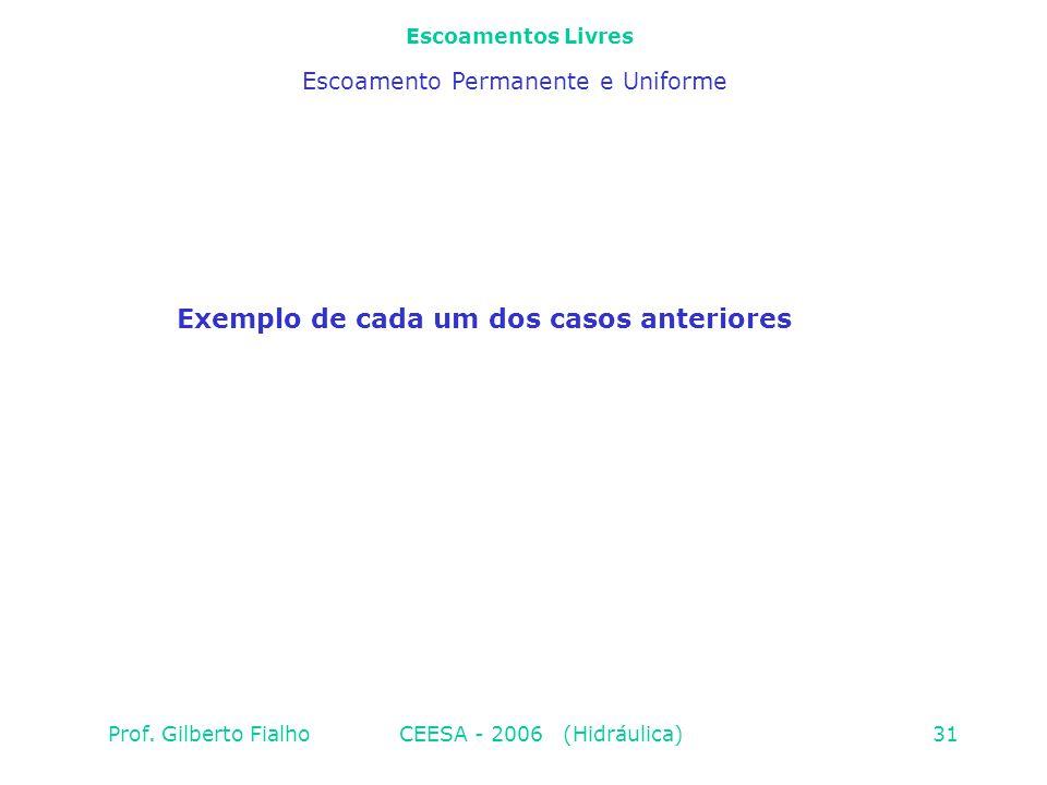 Exemplo de cada um dos casos anteriores