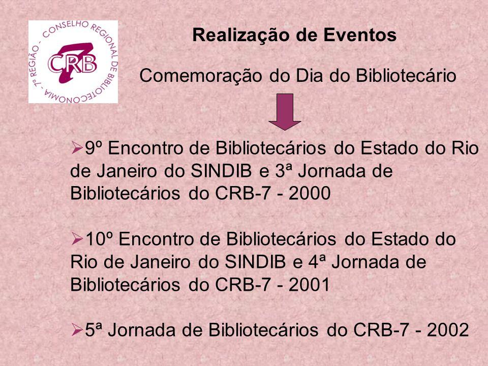 Realização de Eventos Comemoração do Dia do Bibliotecário.