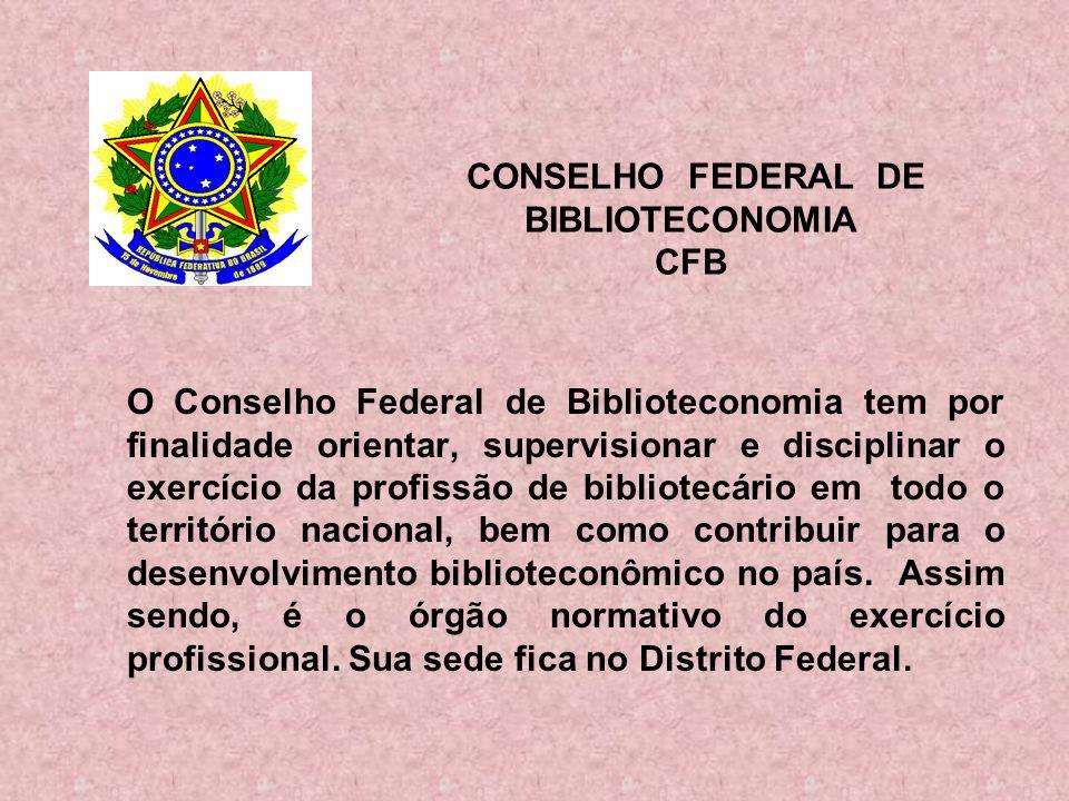 CONSELHO FEDERAL DE BIBLIOTECONOMIA CFB