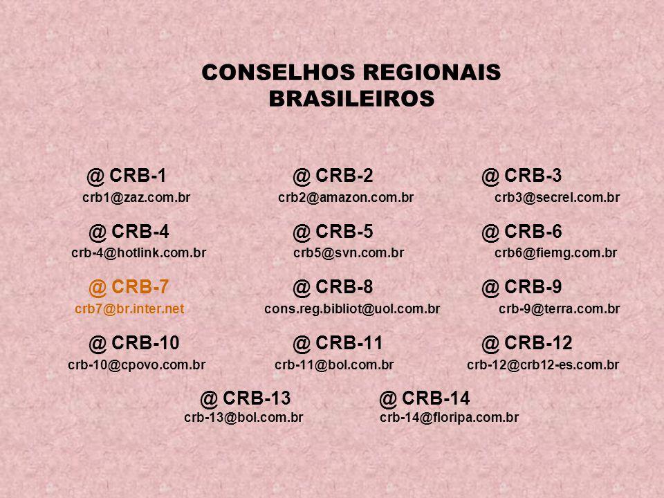 CONSELHOS REGIONAIS BRASILEIROS
