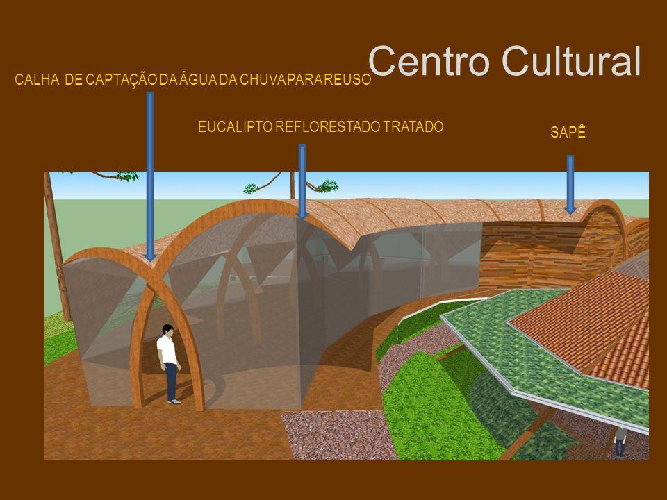 Centro Cultural CALHA DE CAPTAÇÃO DA ÁGUA DA CHUVA PARA REUSO
