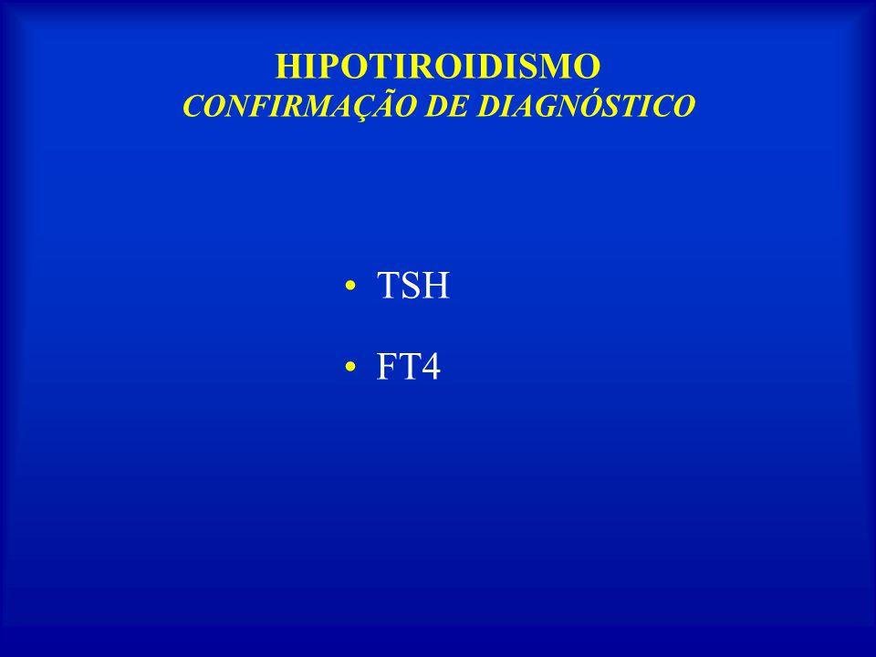 HIPOTIROIDISMO CONFIRMAÇÃO DE DIAGNÓSTICO