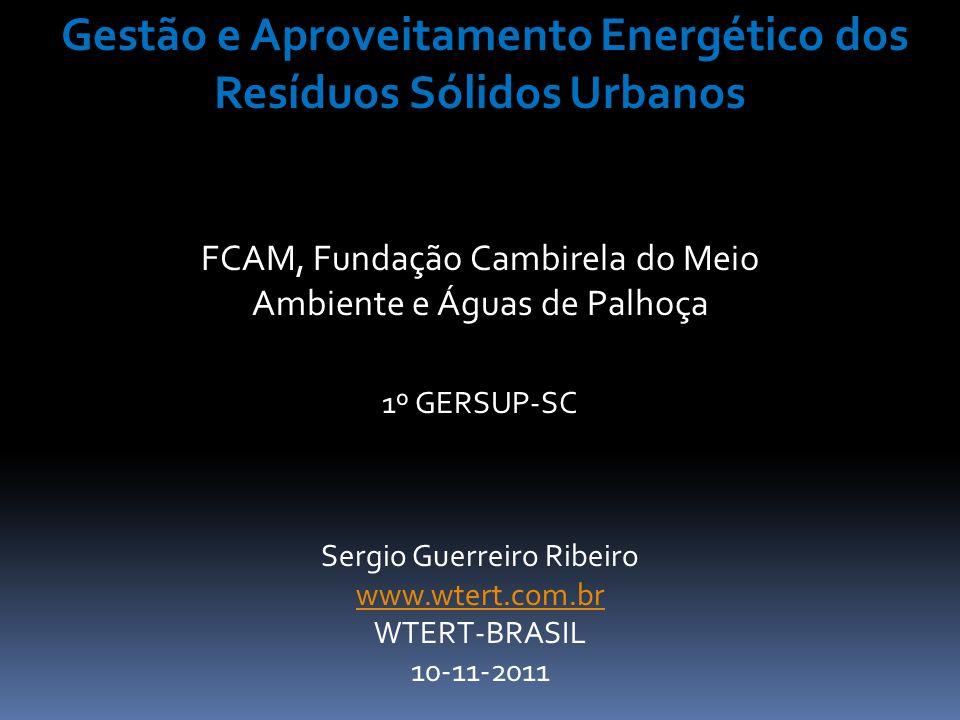 Gestão e Aproveitamento Energético dos Resíduos Sólidos Urbanos