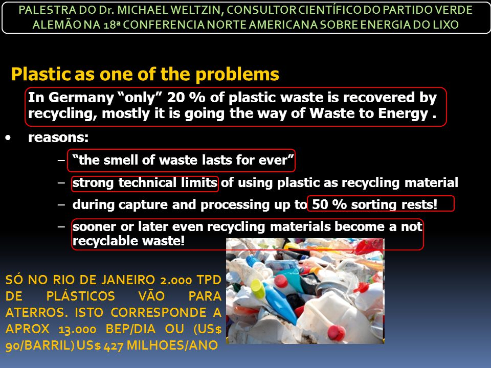 Plastic as one of the problems