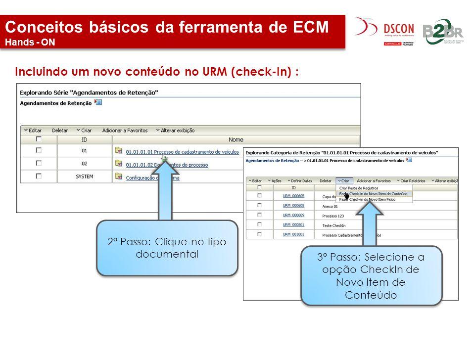 Conceitos básicos da ferramenta de ECM Hands - ON