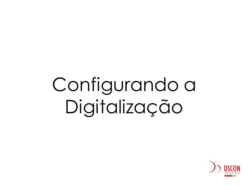 Configurando a Digitalização