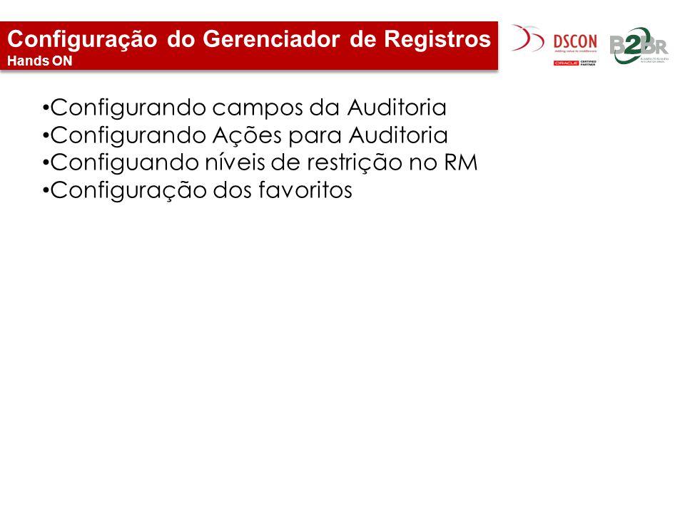 Configuração do Gerenciador de Registros Hands ON