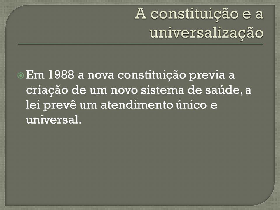 A constituição e a universalização